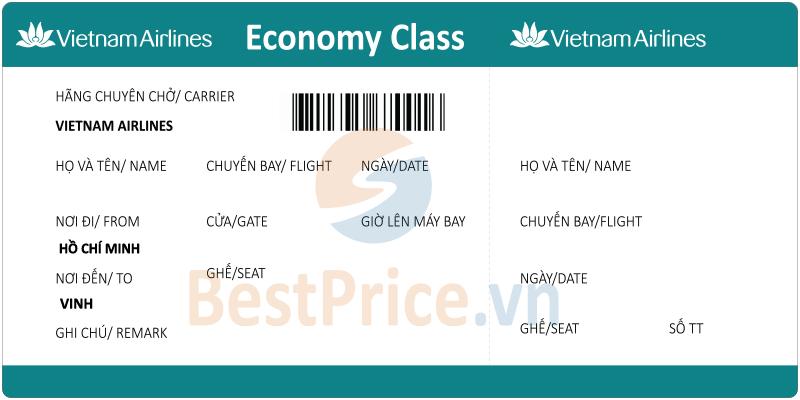 Vé máy bay Sài Gòn - Vinh Vietnam Airlines