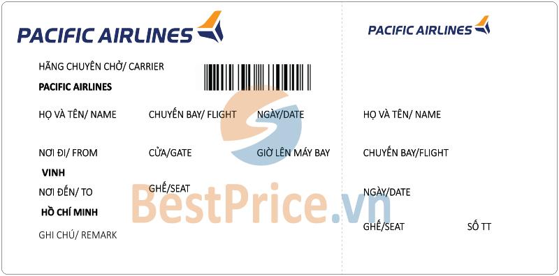 Vé máy bay Vinh - Sài Gòn Pacific Airlines