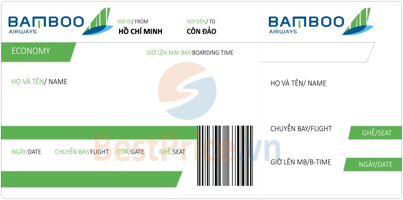 Vé máy bay Sài Gòn - Côn Đảo Bamboo Airways