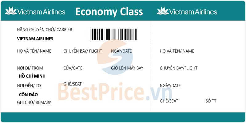 Vé máy bay Sài Gòn - Côn Đảo Vietnam Airlines