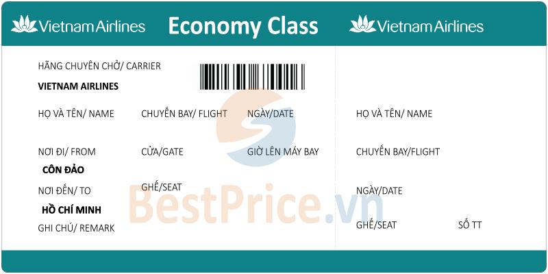 Vé máy bay Côn Đảo - Sài Gòn Vietnam Airlines