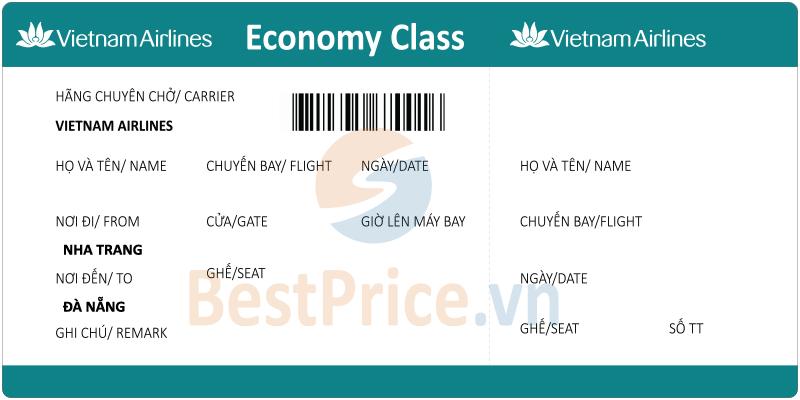 Vé máy bay Nha Trang - Đà Nẵng Vietnam Airlines
