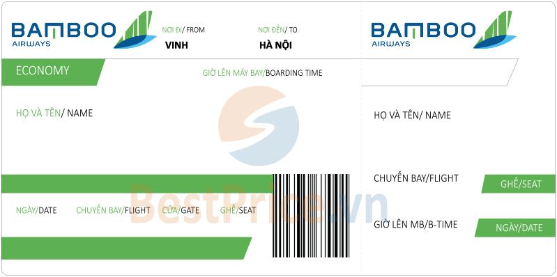 Vé máy bay Vinh - Hà Nội Bamboo Airways