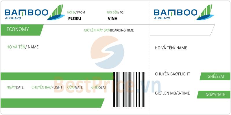 Vé máy bay Pleiku đi Vinh Bamboo Airways