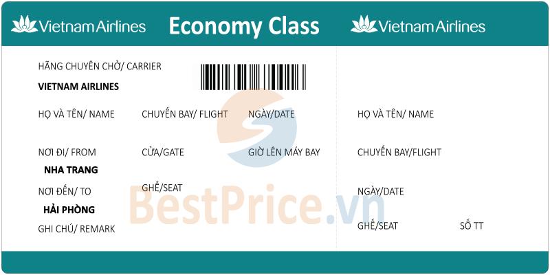 Vé máy bay Nha Trang đi Hải Phòng Vietnam Airlines