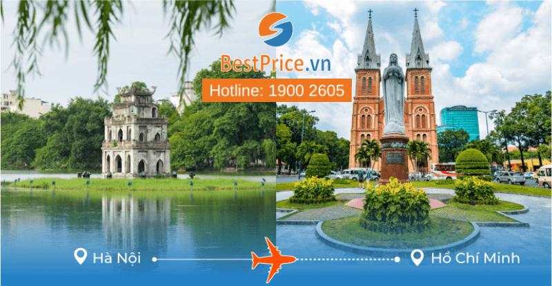 Đặt vé máy bay từ Hà Nội đến Hồ Chí Minh