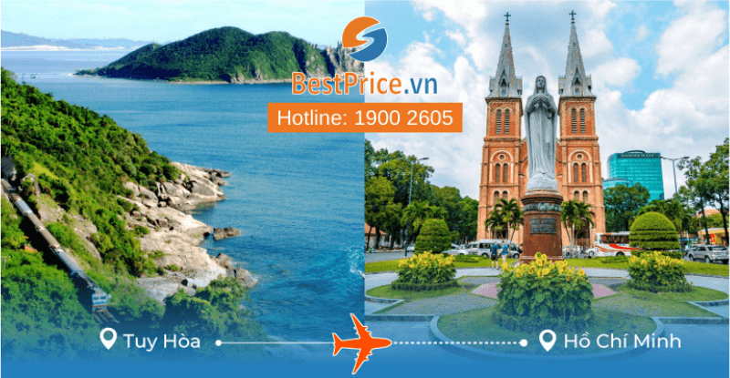 Vé máy bay từ Tuy Hòa đi Hồ Chí Minh