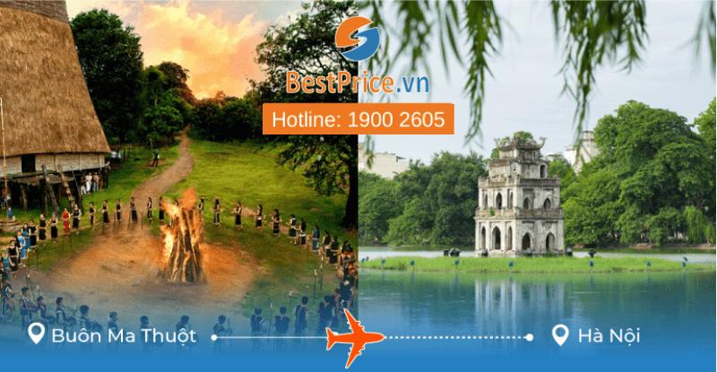 Đặt vé máy bay Buôn Ma Thuột đi Hà Nội