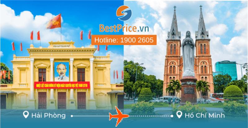 Đặt vé máy bay giá rẻ từ Hải Phòng đi Sài Gòn
