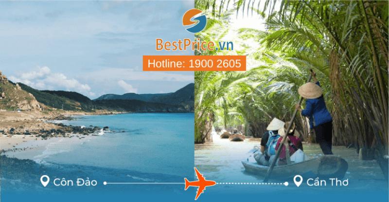 Đặt vé máy bay Côn Đảo đi Cần Thơ