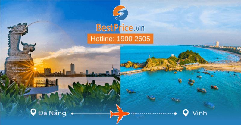Đặt vé máy bay từ Đà Nẵng đi Vinh