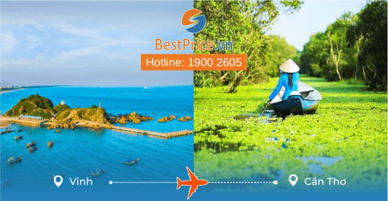 Đặt vé máy bay từ Vinh đi Cần Thơ