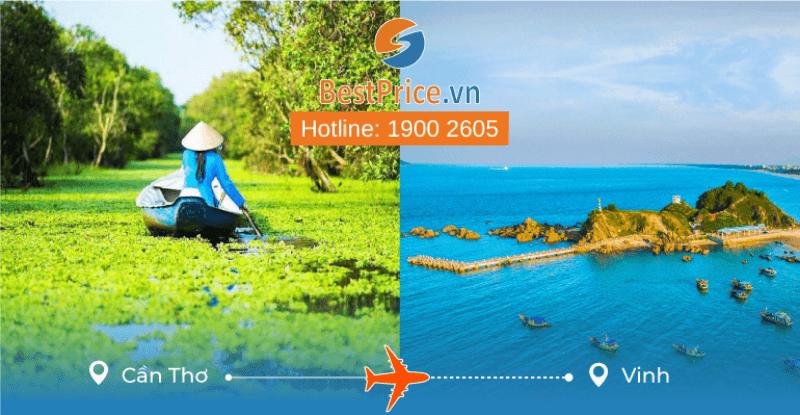Đặt vé máy bay từ Cần Thơ đi Vinh