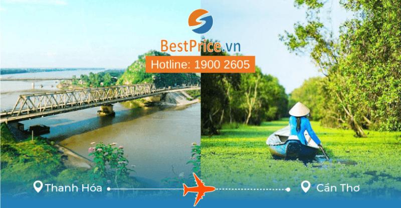 Đặt vé máy bay Thanh Hóa đi Cần Thơ