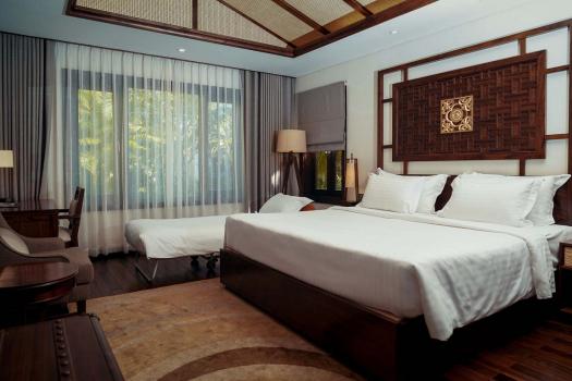 Villa 2 phòng ngủ có vườn/ trên hồ