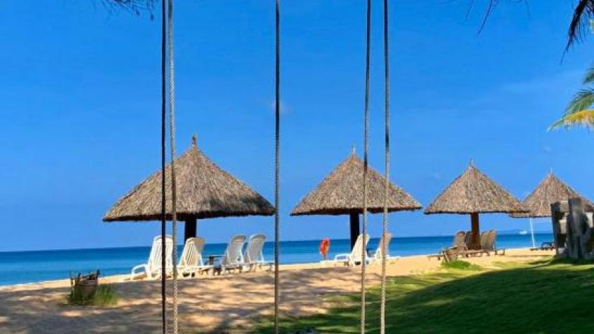 Sân vườn Eden Resort Phú Quốc