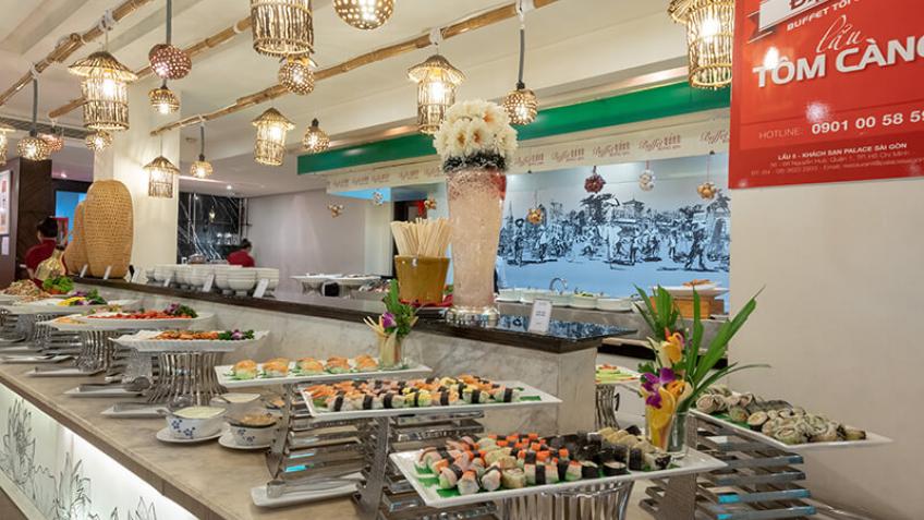 Khu vực Buffet Khách sạn Palace Sài Gòn