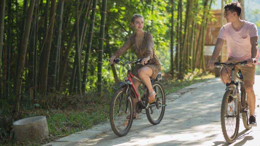 Hoạt động đạp xe Mai Châu Hideaway Resort
