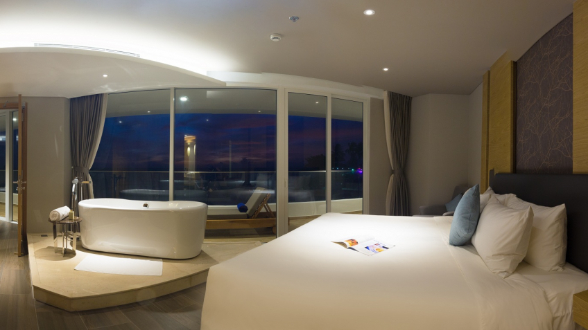 Master Bedroom With Sunset