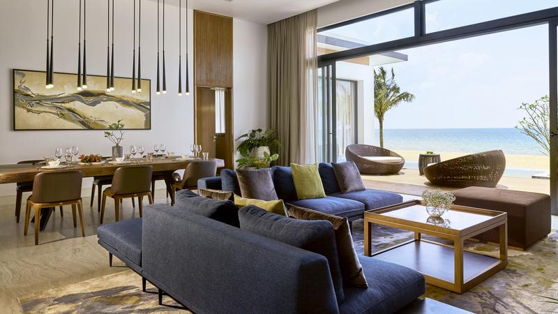 Villa 3 phòng ngủ view biển ở khu nghỉ dưỡng