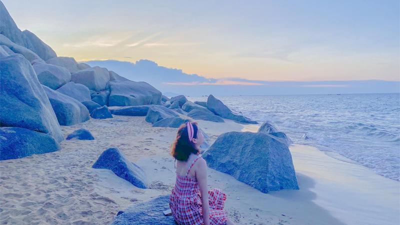 Check in bãi biển Thiên Cầm