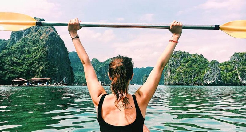 chèo thuyền kayak du thuyền peony