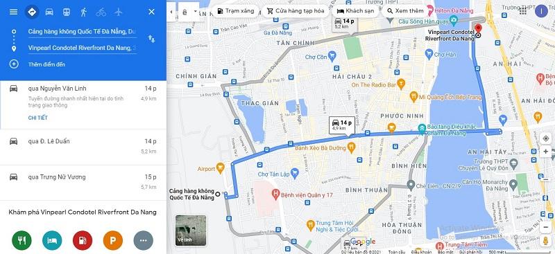 Sân bay Đà Nẵng đến Vinpearl Condotel Riverfront Đà Nẵng