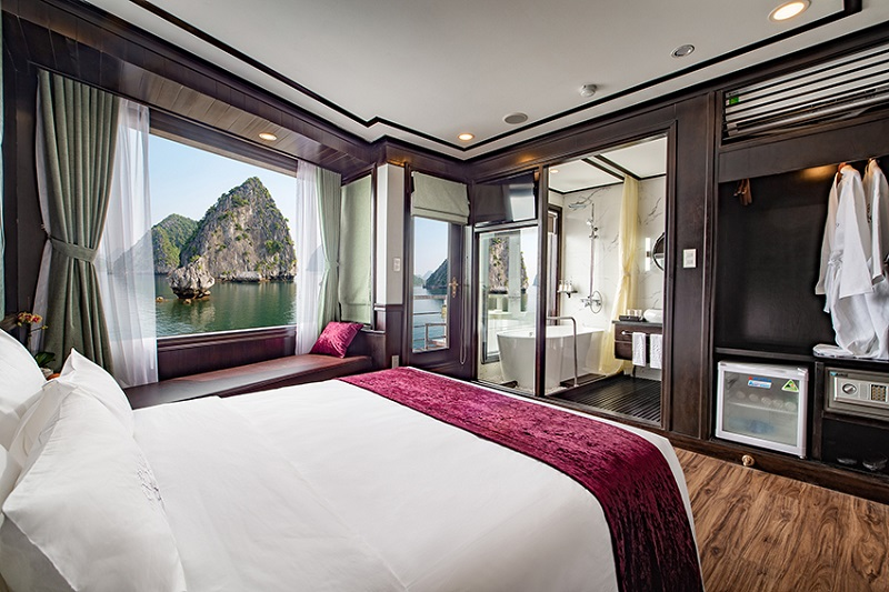 Du thuyền Peony phòng deluxe suite