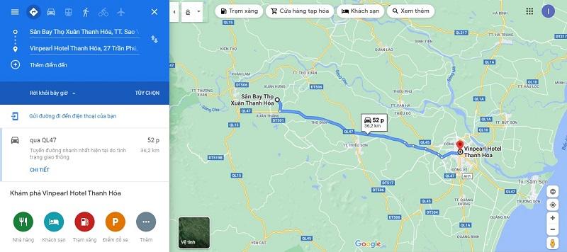 Sân bay Thọ Xuân đến Vinpearl Thanh Hóa