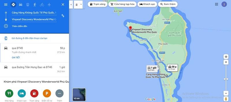 Đi từ sân bay Phú Quốc đến Vinpearl Discovery Wonderworld Phú Quốc