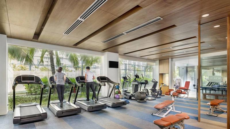 Phòng tập gym ở khu nghỉ dưỡng Novotel Phú Quốc