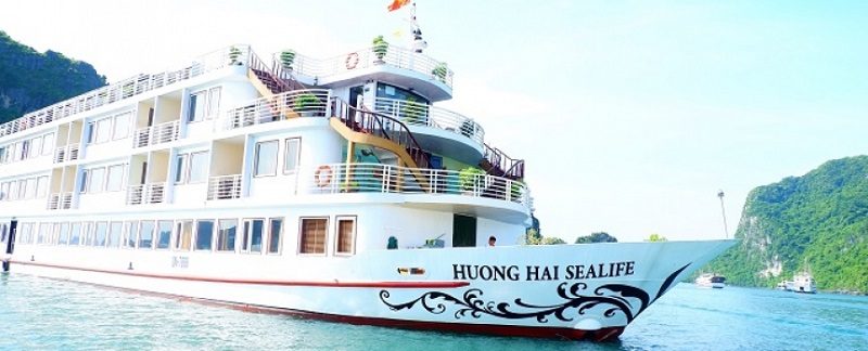 Du thuyền Huong Hai Sealife Cruise