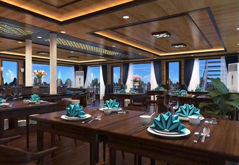 Du thuyền Serenity không gian nhà hàng