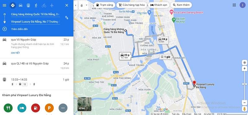 Sân bay Đà Nẵng đến Vinpearl Luxury Đà Nẵng