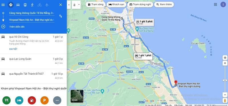 Sân bay Đà Nẵng đến Vinpearl Resort & Golf Nam Hội An