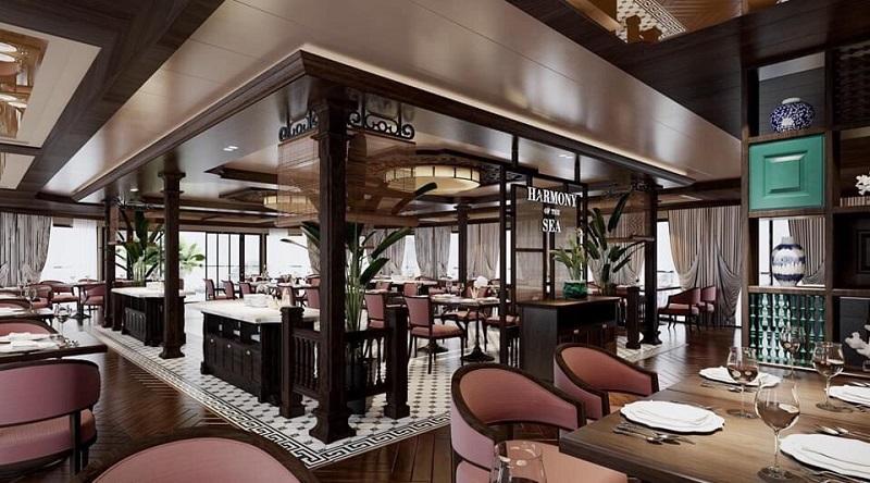 Nhà hàng harmony of the sea trên du thuyền capella