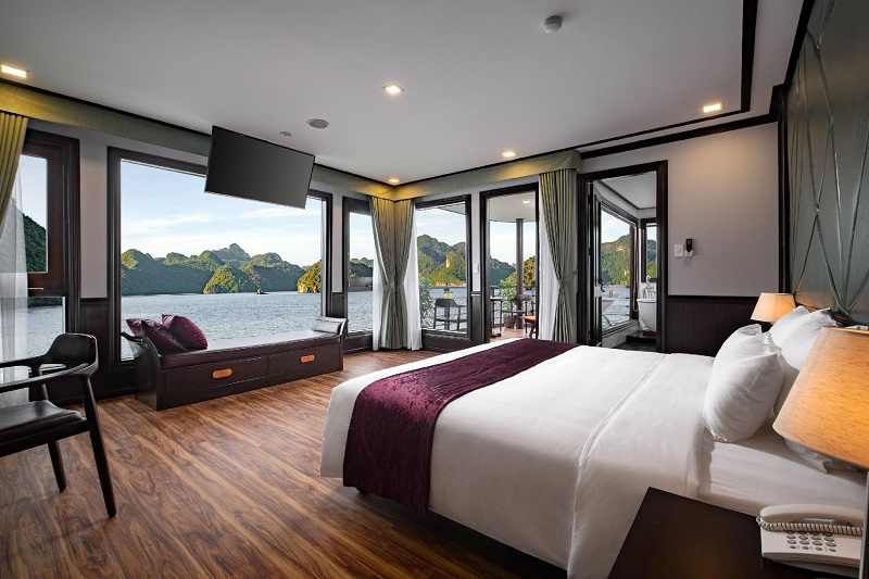 Du thuyền peony phòng Exclusive suite