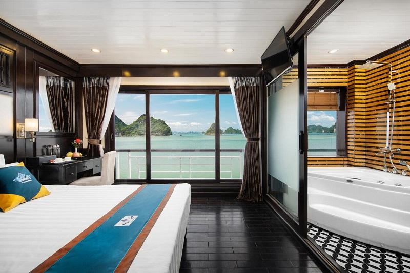 phòng nghỉ deluxe trên du thuyền Aquamarine