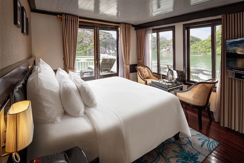Phòng paradise suite trên du thuyền paradise sails