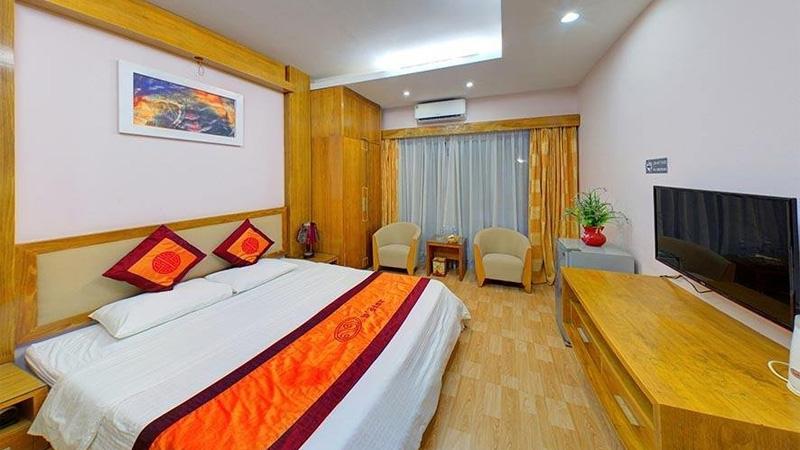 Phòng nghỉ ở V Star Resort Hòa Bình