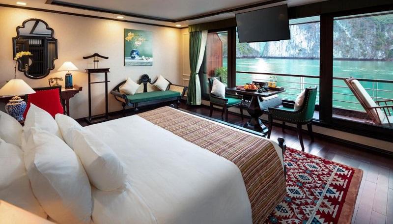 Phòng nghỉ suite balcony trên du thuyền orchid