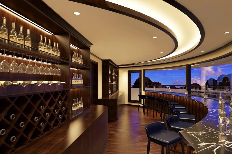 Quầy bar trên du thuyền Scarlet