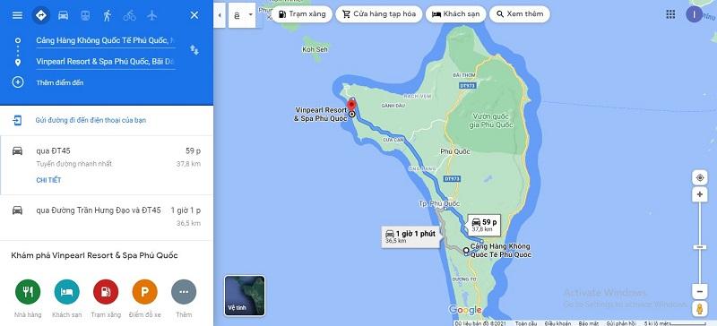 Sân bay Phú Quốc đến Vinpearl Resort & Spa Phú Quốc