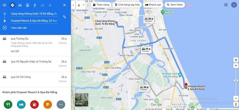 Sân bay Đà Nẵng đến Vinpearl Resort & Spa Đà Nẵng