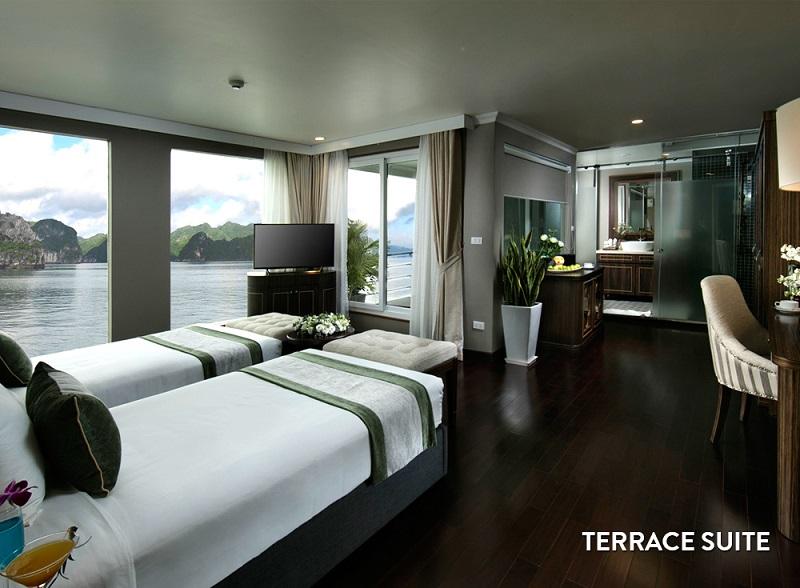 Du thuyền Era phòng Terrace suite