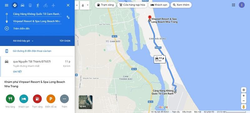 Sân bay Cam Ranh đến Vinpearl Long Beach Nha Trang