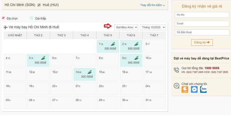 Săn vé đi Huế hãng Bamboo Airways tại bestprice.vn