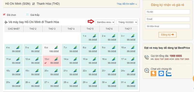 Săn vé đi Thanh Hóa hãng Bamboo Airways tại bestprice.vn