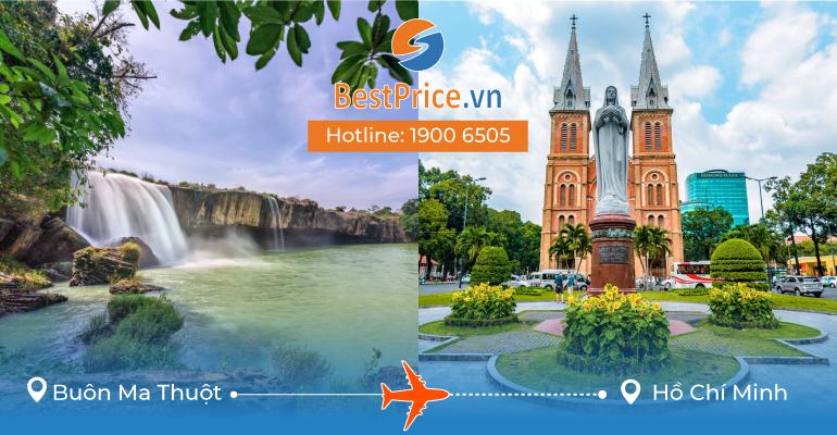 Đặt vé máy bay Buôn Ma Thuột đi Sài Gòn