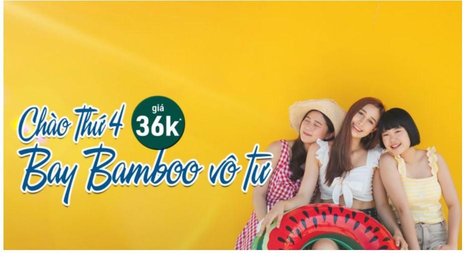 Khuyến mại Bamboo Airways: Chào Thứ 4, Bay Bamboo vô tư